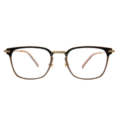 Selecta | 低奢多變拼色款眼鏡 可可棕