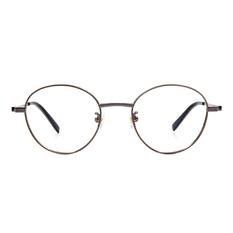 Selecta   高貴氣質撞色圓框眼鏡 鈦金銀