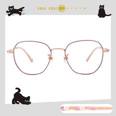 SOU・SOU l 微笑日常 多邊框眼鏡✿淺藕粉