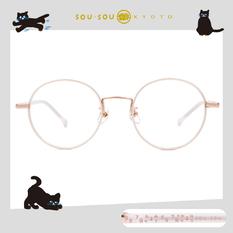 SOU・SOU l 翻玩數字 圓框眼鏡✿珍珠白