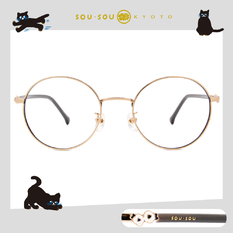 SOU・SOU l 山茶花 圓框眼鏡✿黑金灰