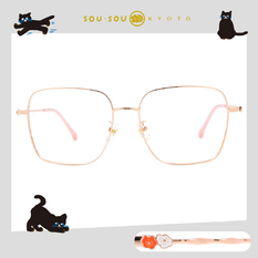 SOU・SOU l 睫毛彎彎 大方框眼鏡✿玫瑰金