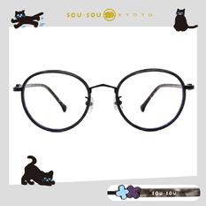 SOU・SOU l 花遊小路 粗圓框眼鏡✿透明黑
