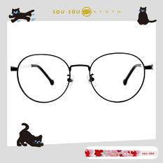 SOU・SOU l 花鳥叢林 圓框眼鏡✿質感黑