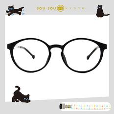 SOU・SOU l 排列數字 波士頓框眼鏡✿霧面黑
