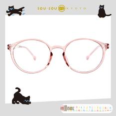 SOU・SOU l 排列數字 波士頓框眼鏡✿透明粉