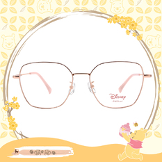 Disney-粉萌季 l 奇奇蒂蒂出遊趣 大方框眼鏡 玫粉金
