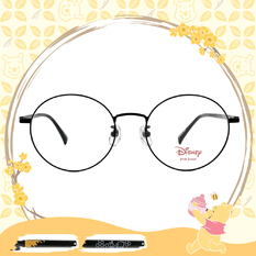 Disney-粉萌季 l 維尼和小豬 波士頓框眼鏡 星空灰