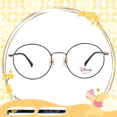 Disney-粉萌季 l 維尼和小豬 波士頓框眼鏡 星空黑