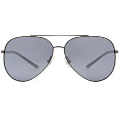 HORIEN 細邊金屬飛官框墨鏡 透灰藍