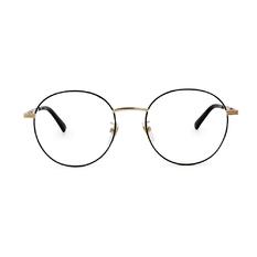 GUCCI│經典古馳條紋圓框眼鏡│經典黑