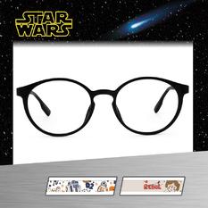 Star Wars:手繪莉亞公主 圓框眼鏡︱亮黑
