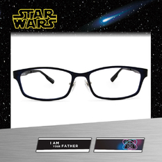 Star Wars:雷射光束 黑武士 長方框眼鏡︱亮黑