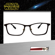 Star Wars:Death Star死星 長方框眼鏡︱透紅