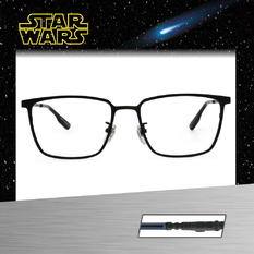 Star Wars:原力光劍 路克·天行者 長方框眼鏡︱鐵黑