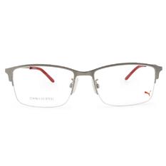 PUMA l 剛性質感 長方半框眼鏡 l 太空銀