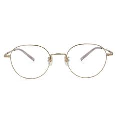 Selecta 簡約細緻橢圓框眼鏡 典藏金