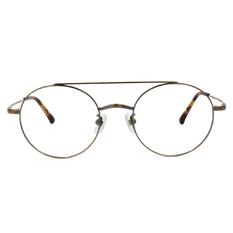 Selecta|雙樑飛官圓框眼鏡|霧質金