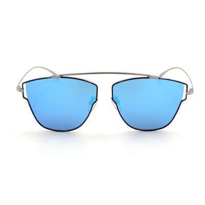 HORIEN 黑框墨鏡 藍膜前衛多邊款墨鏡 古銅銀/黑 (N6329-P06)