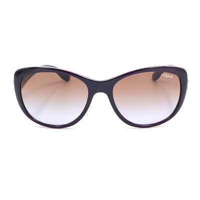 Vogue 時尚設計彩蝶鑲邊款墨鏡 暗紫蝶影 (VO2944S-228668)