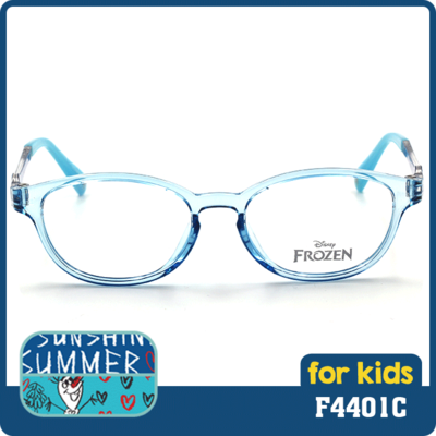 冰雪奇緣系列  稚氣活潑雪寶款眼鏡 馬卡龍藍  (F4401C-1-1-46)