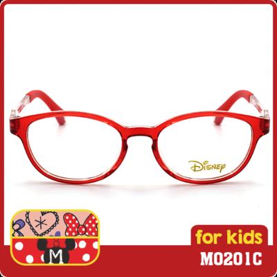 米妮系列  復古米妮插畫款眼鏡  復古紅  (M0201C-2-2-46)