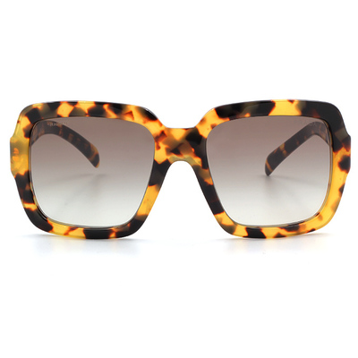 PRADA 高雅亮眼大方框墨鏡 -名媛款墨鏡 花樣棕 (PR07RSF-7S00A7)
