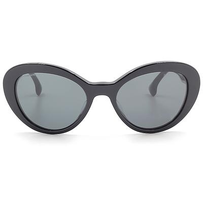 PRADA 簡約黑潮微貓眼框墨鏡  暗夜黑 (PR15QSF-1AB1A1)