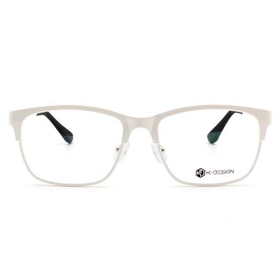 K-Design  17年韓星風眼鏡潮款眼鏡 古典威靈頓眉型框眼鏡 雪幕白  (KD1-1401-3-2-56)