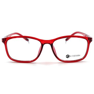 K-Design  17年款眼鏡 經典韓屋風眼鏡格瓦鎮燕尾款 宮廷紅 (KD1-1411-2-2-53)
