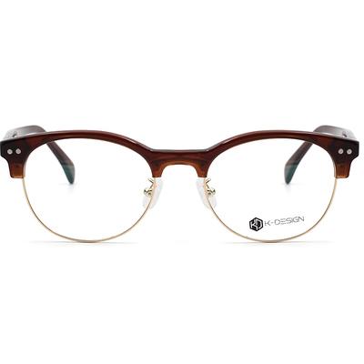 K-Design  17年款眼鏡 設計師廣告款-韓風眼鏡經典潮流眉框眼鏡 焦糖棕 (KD3-0702-2-1-50)
