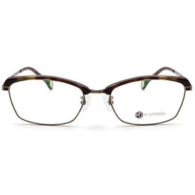 K-Design  17年款眼鏡 設計師廣告款-金色年華細緻眉方框眼鏡 古月金 (KD3-0703-1-1-54)