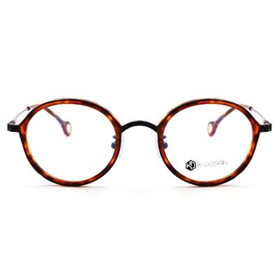 K-Design  17年韓式古典潮紋款眼鏡 套圈復古圓框眼鏡 歲月棕   (KD2-1503-2-1-48)