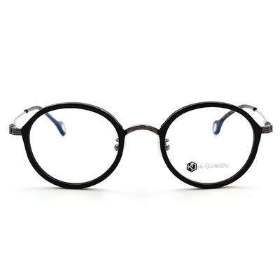 K-Design  17年韓式古典潮紋款眼鏡 套圈復古圓框眼鏡 雋永黑 (KD2-1503-2-2-48)