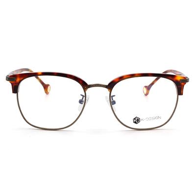 K-Design  17年款眼鏡 韓星私搭推崇款 雅痞復古眉框眼鏡 懷舊棕/仿古金  (KD3-0707-1-1-51)