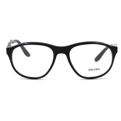 PRADA  極簡貓眼曲線獨特款眼鏡 極夜黑 (PR12SVF-1AB1O1-54)