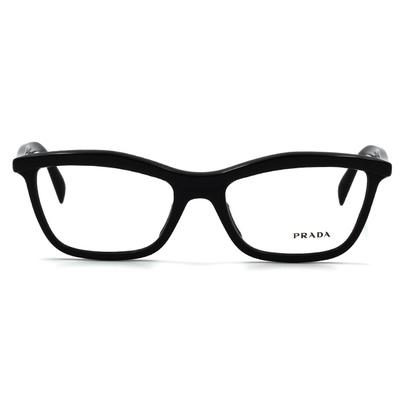 PRADA 簡約個性黑潮眉框眼鏡 羅馬黑 (PR17PVA-1AB1O1-54)