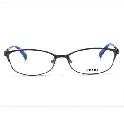 PRADA 藍色銀海義大利純鈦框眼鏡 雪貂銀 (PR63RV-QFM1O1-55)