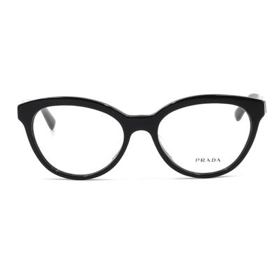 PRADA 經典鐵三角優雅潮框眼鏡 鑄印黑 (PR11RVF-1AB1O1-52)