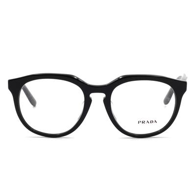 PRADA 堅忍不屈的毅力 多邊框眼鏡 盾牌黑 (PR13SVF-1AB1O1-50)
