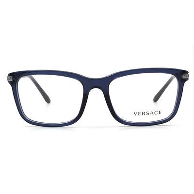 VERSACE 經典圖騰金屬邊雅緻框眼鏡 流域藍 (VE3210A-5111-55)