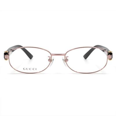 GUCCI 輕式經典馬銜鍊知性款眼鏡 星沙巧克 (4269J-OXE-52)