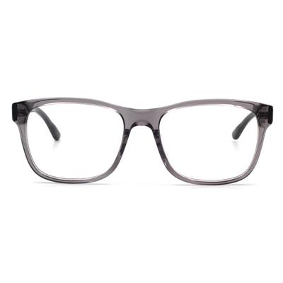 agnès b. 經典箭頭 輕透雙色框眼鏡 ▏透灰(60006-C03-53)