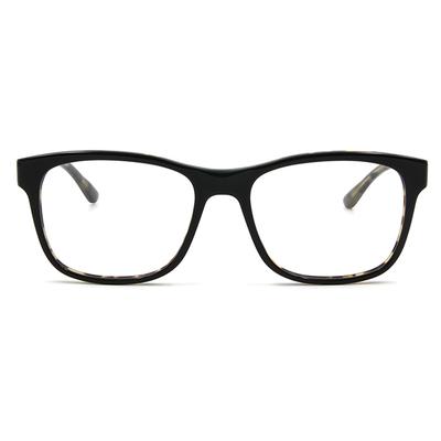 agnès b. 經典箭頭 輕透雙色框眼鏡 ▏外/亮黑.內/玳瑁綠玳瑁棕(60006-C01-53)