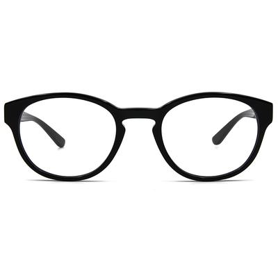 agnès b. 青澀燭光復古波士頓框眼鏡 ▏亮黑(60007-C01-50)