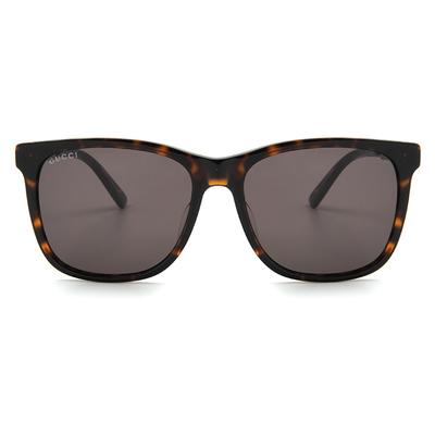 GUCCI 率性軍官風眼鏡方框眼鏡墨鏡  ▏玳瑁棕/亮槍