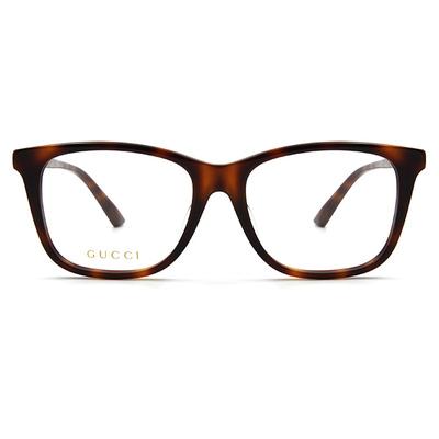 GUCCI 2017秋冬新款眼鏡 經典綠紅綠閃金款 ▏玳瑁棕