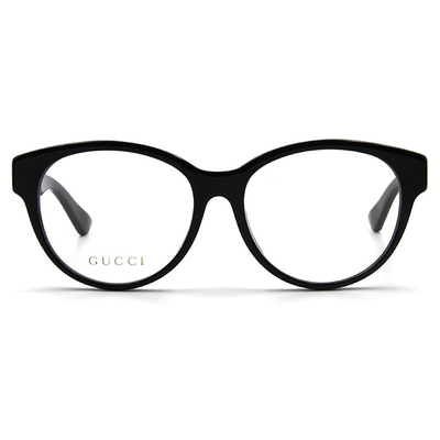 GUCCI 2017秋冬新款眼鏡 金世LOGO摩登款 ▏亮黑