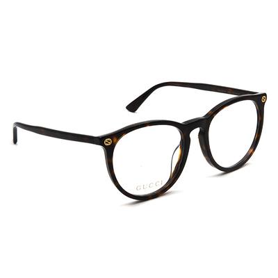 GUCCI 2017秋冬新款眼鏡 微貓眼經典蜂標 ▏玳瑁棕