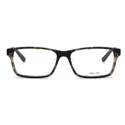 POLICE 質感雙享受框眼鏡 ▏石紋灰/黑白紋